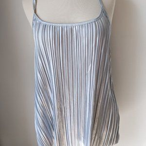 H&M Pleated Tank Top Silver